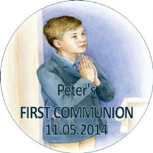 Personalised Boy Communion Stickers Design 7